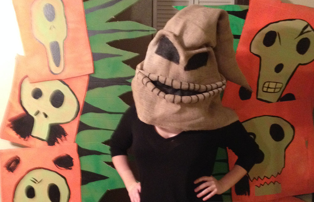 Oogie Boogie mask Nightmare Before Christmas
