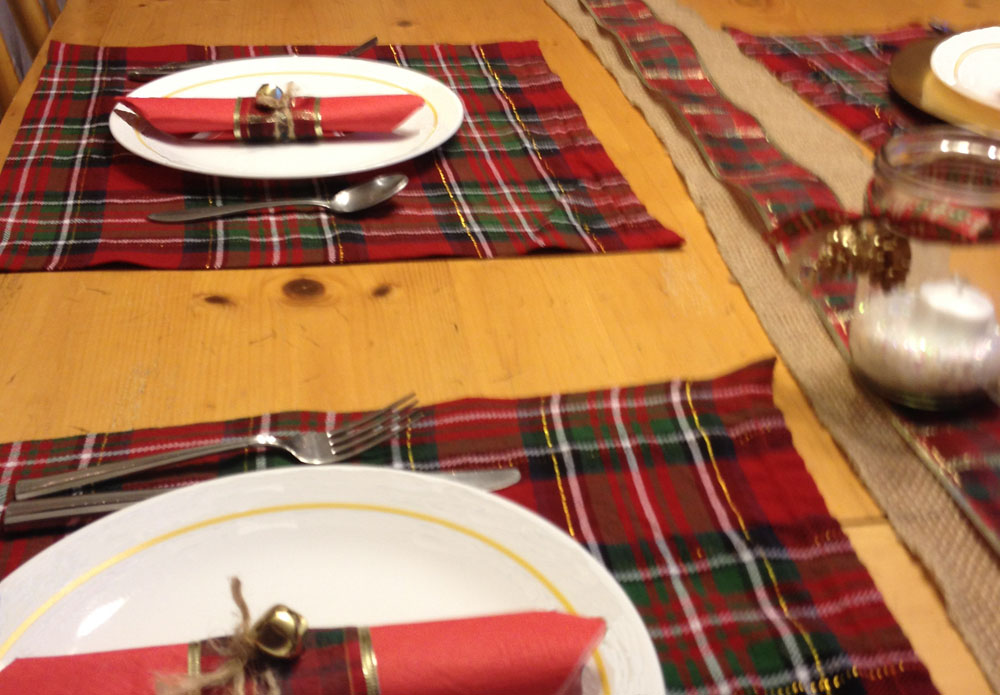 plaid placemat DIY