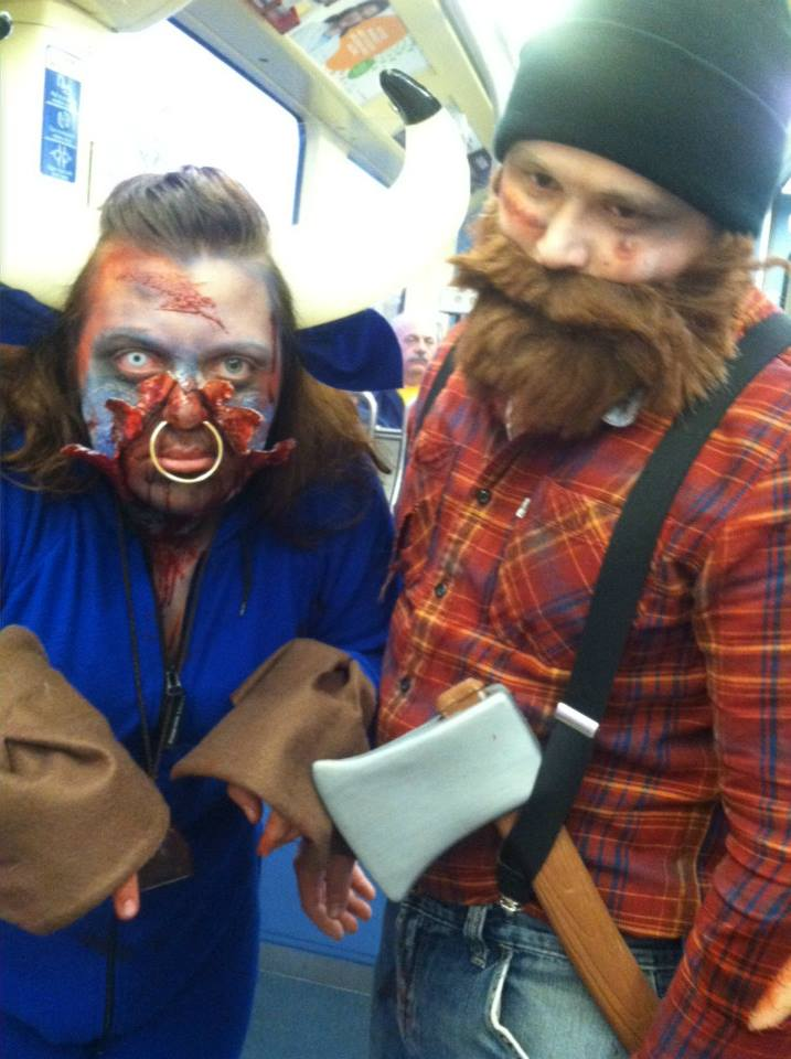 Zombie Paul Bunyan & Zombie Babe the Blue Ox