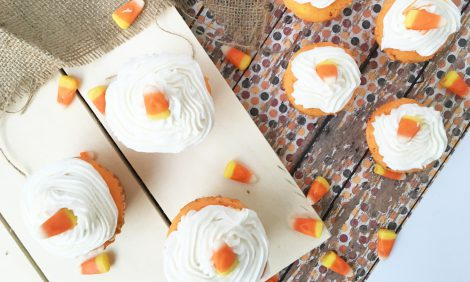 candy corn cupcake recipie tutorial