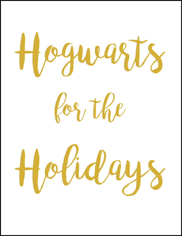 Hogwarts for the holidays