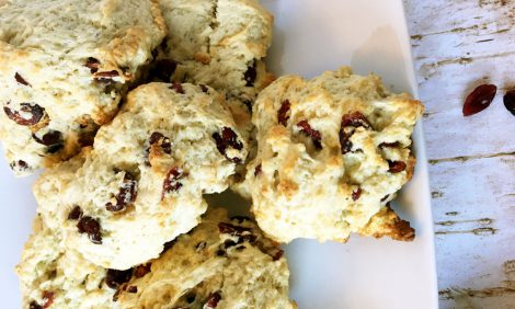 Cranberry Lemon Scones - Hagrids rock cakes