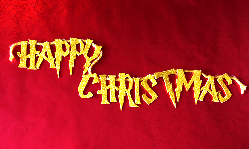 Harry Potter Happy Christmas Banner