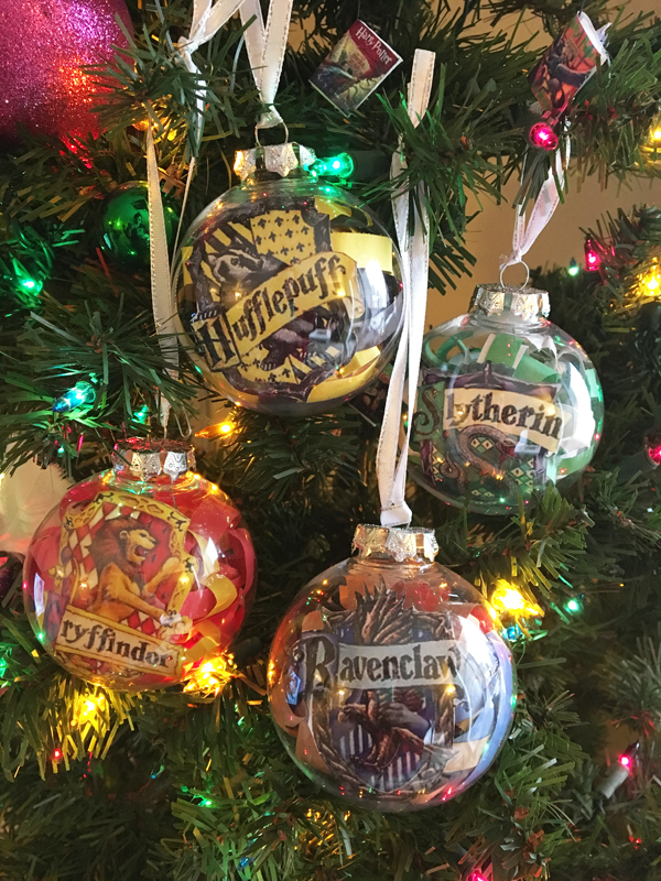 harry potter house ornaments 3 - Harry Potter Christmas Decorations