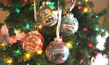 Harry Potter House Ornaments feature