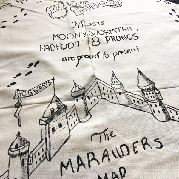 Marauders map tree skirt