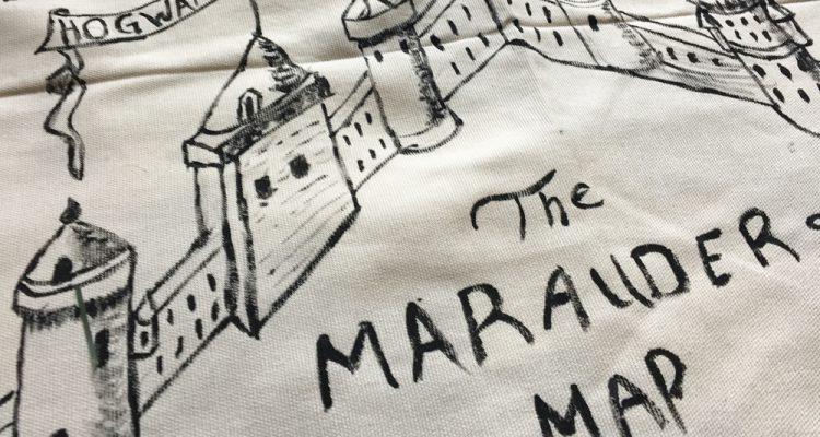 Marauders map tree skirt