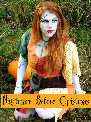 costume makeup tutorials - Sally From Nightmare Before Christmas Makeup