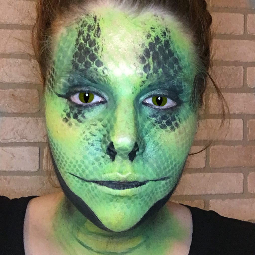 Harry Potter Basilisk- Snake Makeup