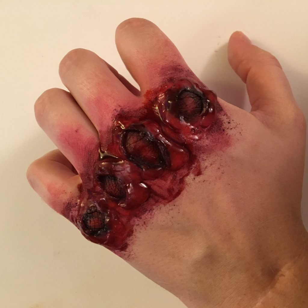 Scraped knuckles makeup