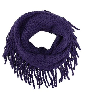 knit purple infinity scarf