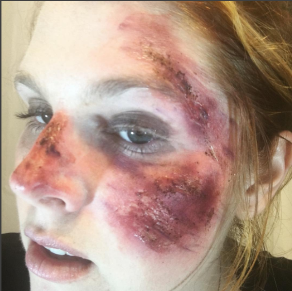 road rash makeup